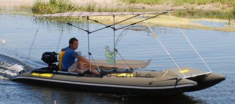 катамаран с подвесным мотором